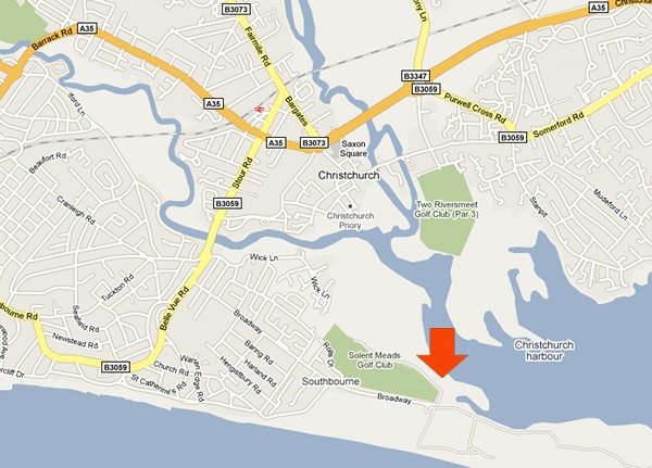 Southbourne Canoe Club Map