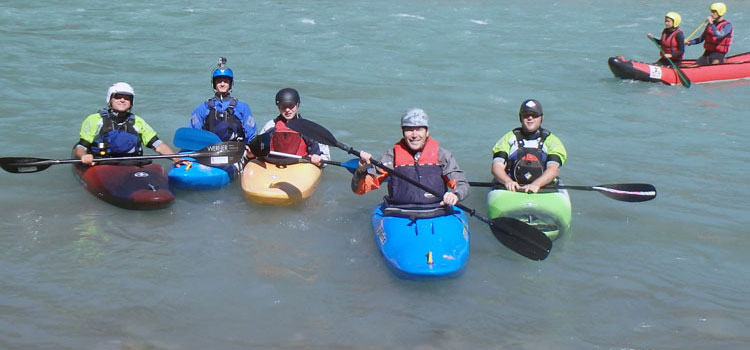 Southbourne Canoe Club members paddling in water